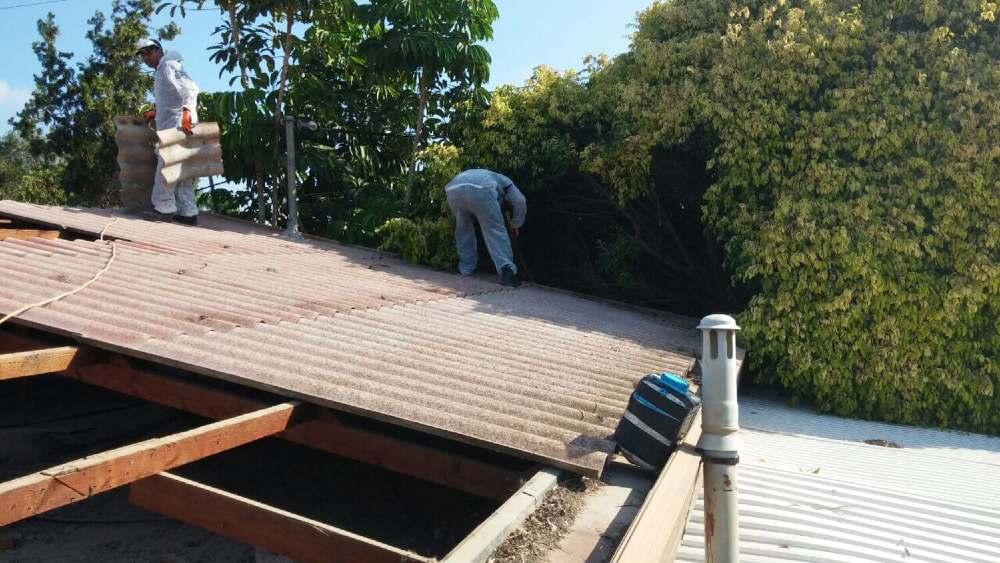 פירוק גג רעפים - פינוי אסבסט